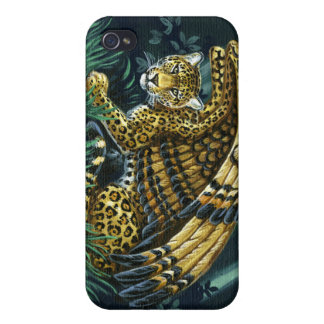 On Alert Winged Jaguar iPhone4 Case iPhone 4/4S Case