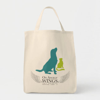On Angels' Wings Logo Shopping Tote