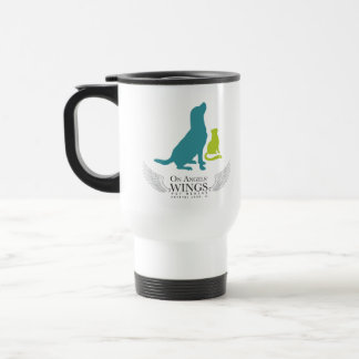 On Angels' Wings Logo Travel Mug