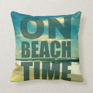 ON BEACH TIME SAYING PHOTO PILLOW