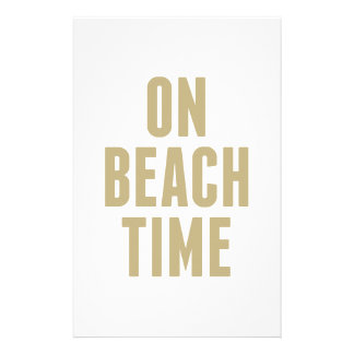 On Beach Time Stationery