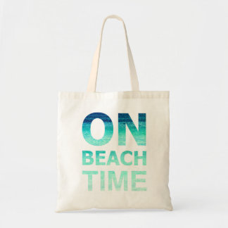 On Beach Time Typography Bag