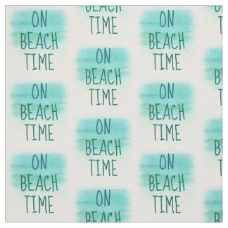 On Beach Time Word Fabric II