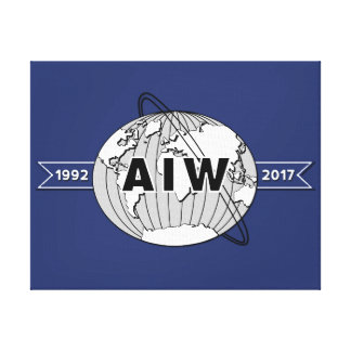 On Canvas-AIW 25th Anniversary Logo Canvas Print