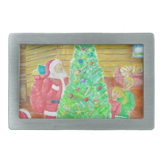 on christmas eve rectangular belt buckle
