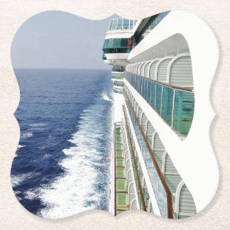 On Cruise Ship Balcony Row Paper Coaster