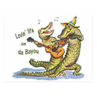 On da Bayou Postcard