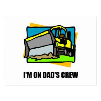 On Dads Crew Postcard