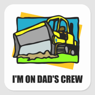 On Dads Crew Square Sticker