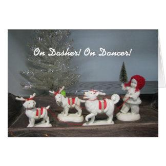 On Dasher! On Dancer! Christmas Card