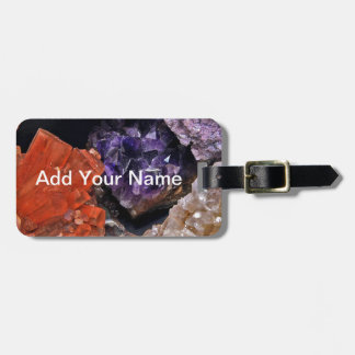 On Edge Crystal Patchwork Luggage Tag