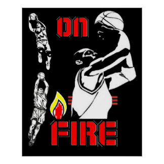 On Fire - Basketball - poster