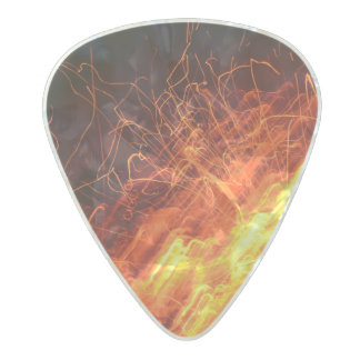 On Fire Design Pearl Celluloid Guitar Pick
