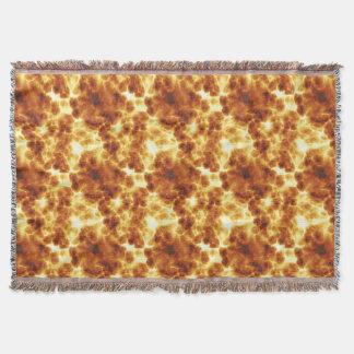 On Fire Fiery Hot Flames Design Throw Blanket