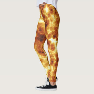 On Fire Fiery Hot Pattern Leggings