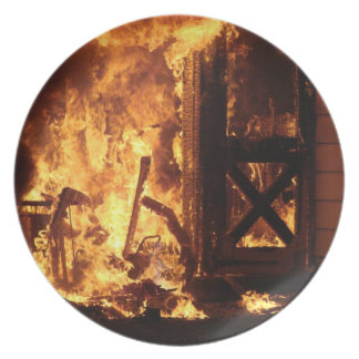 On Fire Party Plate