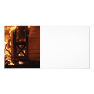 On Fire Photo Card Template