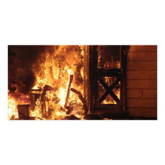 On Fire Custom Photo Card