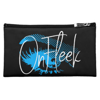 On Fleek Pretty Eye and Eyebrow - Electric Blue Cosmetic Bag