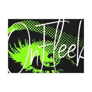 On Fleek Pretty Eye and Eyebrow - Neon Green Canvas Print