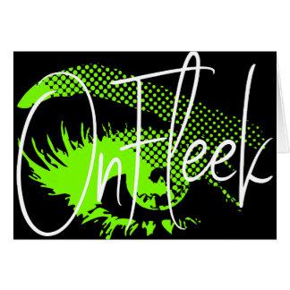 On Fleek Pretty Eye and Eyebrow - Neon Green Card