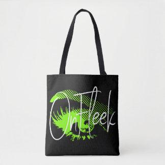 On Fleek Pretty Eye and Eyebrow - Neon Green Tote Bag