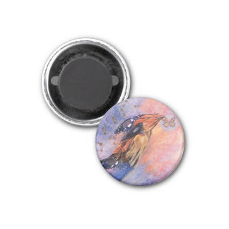 On Gossamer Wings by Kathy Morrow 1 Inch Round Magnet