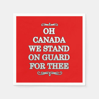 On Guard Canada Day Party Paper Napkins