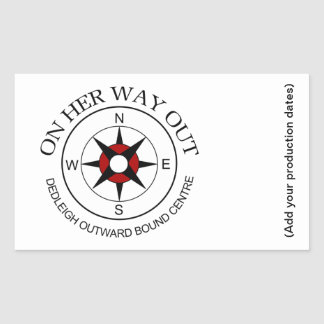 On Her Way Out Sticker