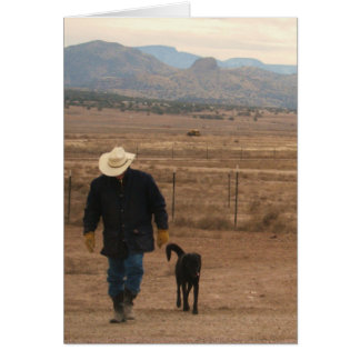On My Mind Support -  Western Ranch Dog Lover Card