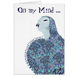 On my Mind ... Yes, You! Lovebird Greeting Card