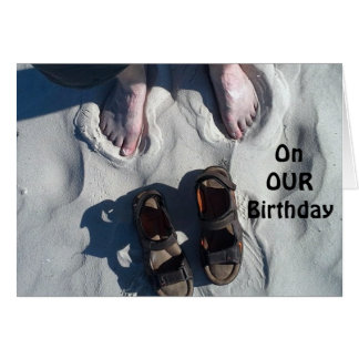 """ON OUR"" BIRTHDAY=RELAX AND ""ENJOY!"" BEACH STYLE CARD"