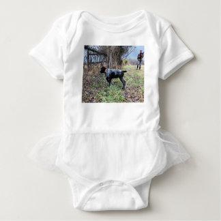 On point puppy baby bodysuit