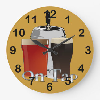 On Tap - Beer / Keg Round Wall Clock