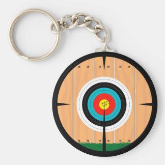 On Target Basic Round Button Keychain