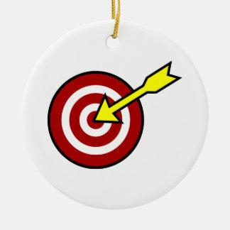 On Target Round Ceramic Ornament