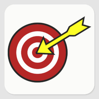 On Target Square Sticker