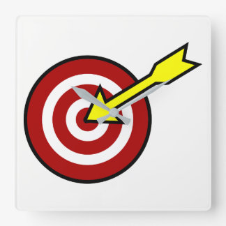 On Target Square Wall Clock