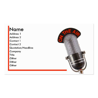 On The Air Business Card