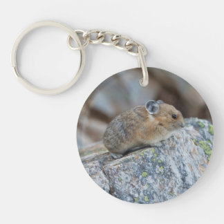 On The Alert Double-Sided Round Acrylic Keychain