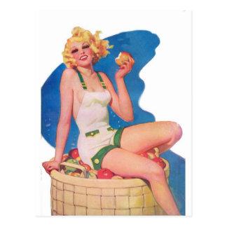 On the Apple Cart Postcard