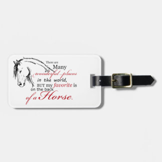 On the Back of a Horse Luggage Tag