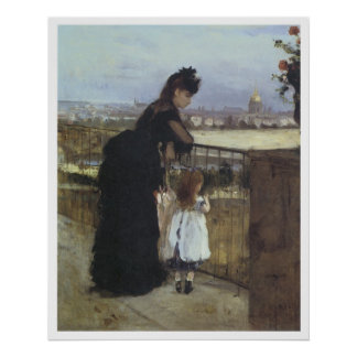 On the Balcony, 1871-72 Berthe Morisot Poster