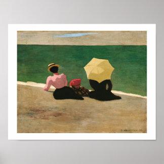 """""""On the Beach"""" Artist Félix Vallotton/ Poster"""