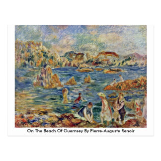 On The Beach Of Guernsey By Pierre-Auguste Renoir Postcard
