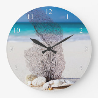 On The Beach Small Numbers Large Clock