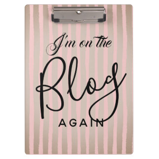 On The Blog Again: Pink and Coffee Clipboard