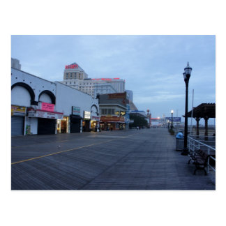 On the Boardwalk in Atlantic City, NJ Postcard