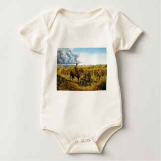 On the Border by Donna Neary Baby Bodysuit