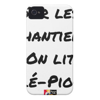 ON the BUILDING SITES ONE READS TÉLÉ-PIOCHE - Word iPhone 4 Cover